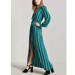 615bd84702 Forever 21 Dresses - Striped M-Slit Maxi Dress